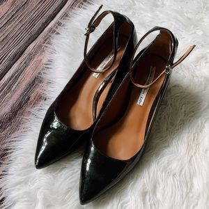 & Other Stories Patent Leather Ankle Strap Heels 8
